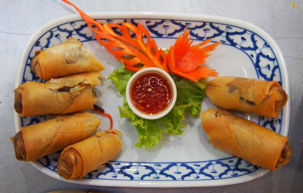 spring rolls in ko lanta