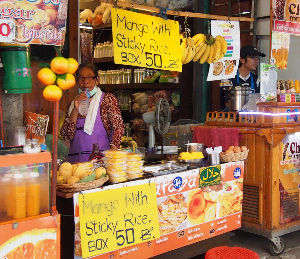 Sticky Rice with Mango Street Food in Bangkok