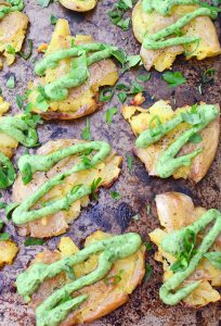 Smashed-Potatoes-with-Creamy-ChimichurriSauce3