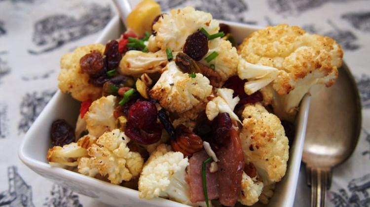 7 Ingredient Roasted Cauliflower Salad