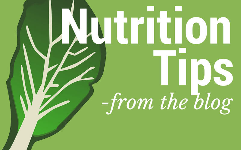 Find the latest nutrition tips and posts on the blog.