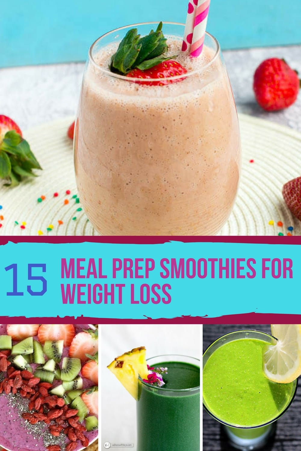 I love these smoothies for a fast and healthy breakfast. These are perfect for getting started with meal prepping. #5 is my favorite!