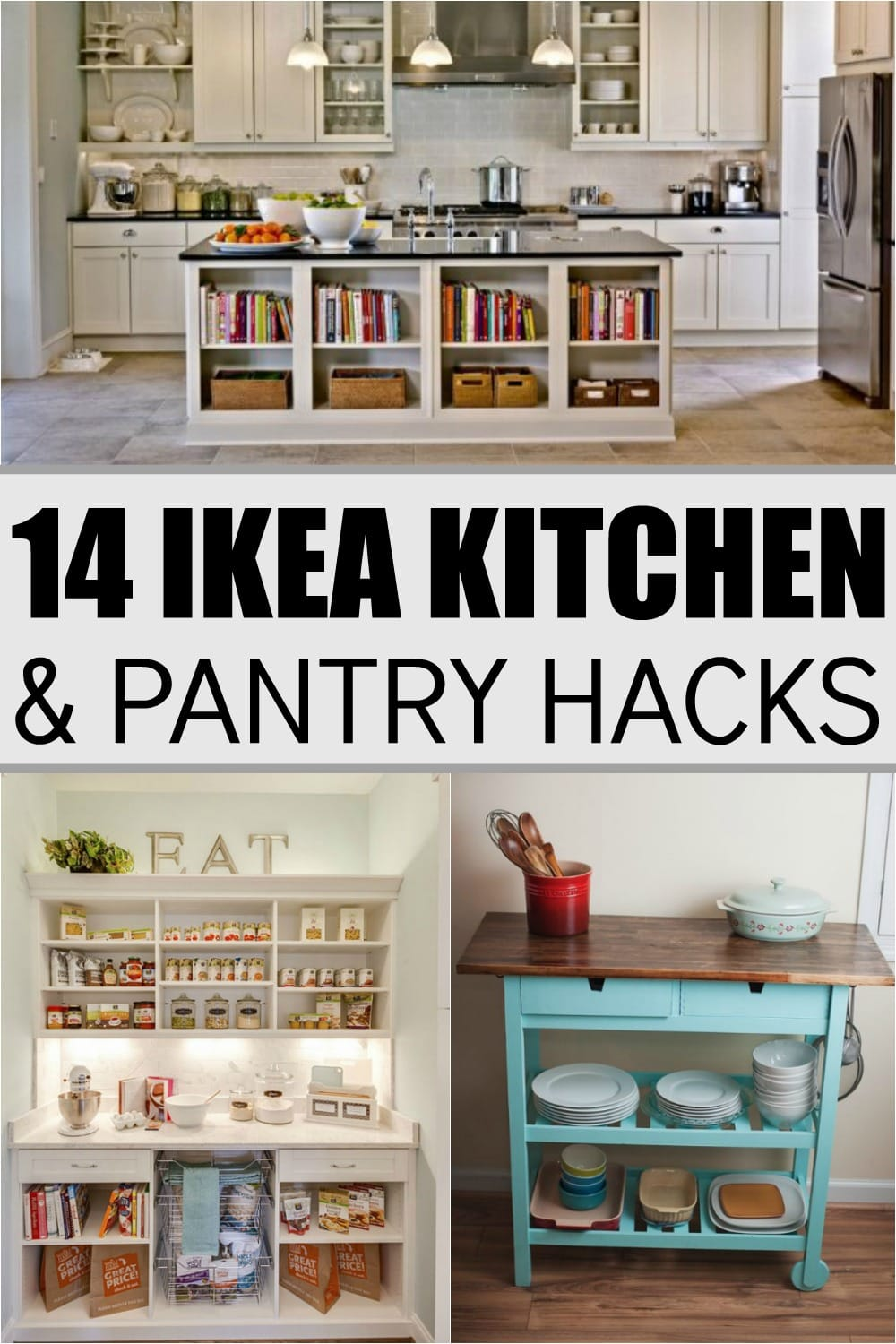 14 ikea hacks for your kitchen and pantry super foods life for Hacker kitchen designs