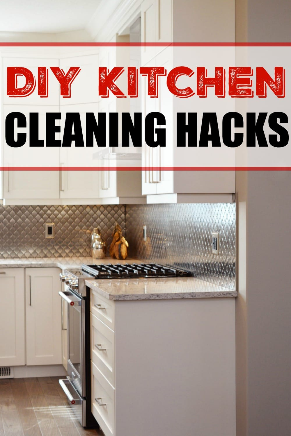 I'm always looking for simple ways to keep my kitchen clean. Cleaning hacks that don't use harmful cleaners are a huge win!!