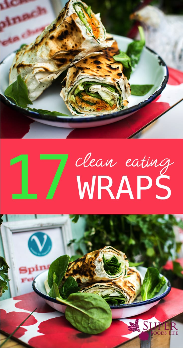 Yes, wraps are amazing, and yes, they can be healthy! I love these clean eating wrap recipes!!