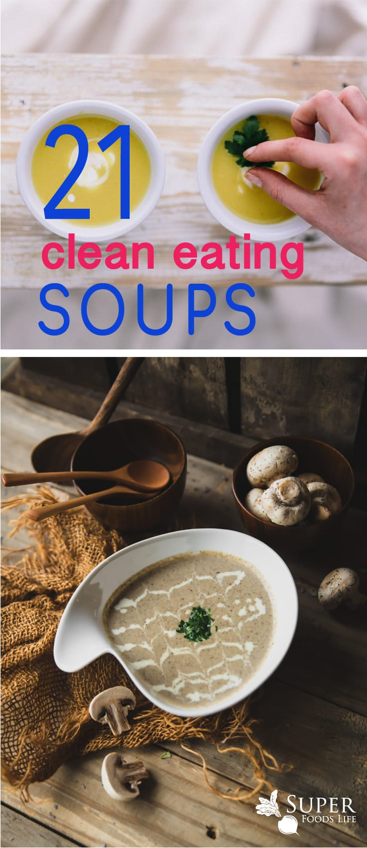 Awesome clean eating soup recipes! If you like soups then you'll love these healthy soup recipes!