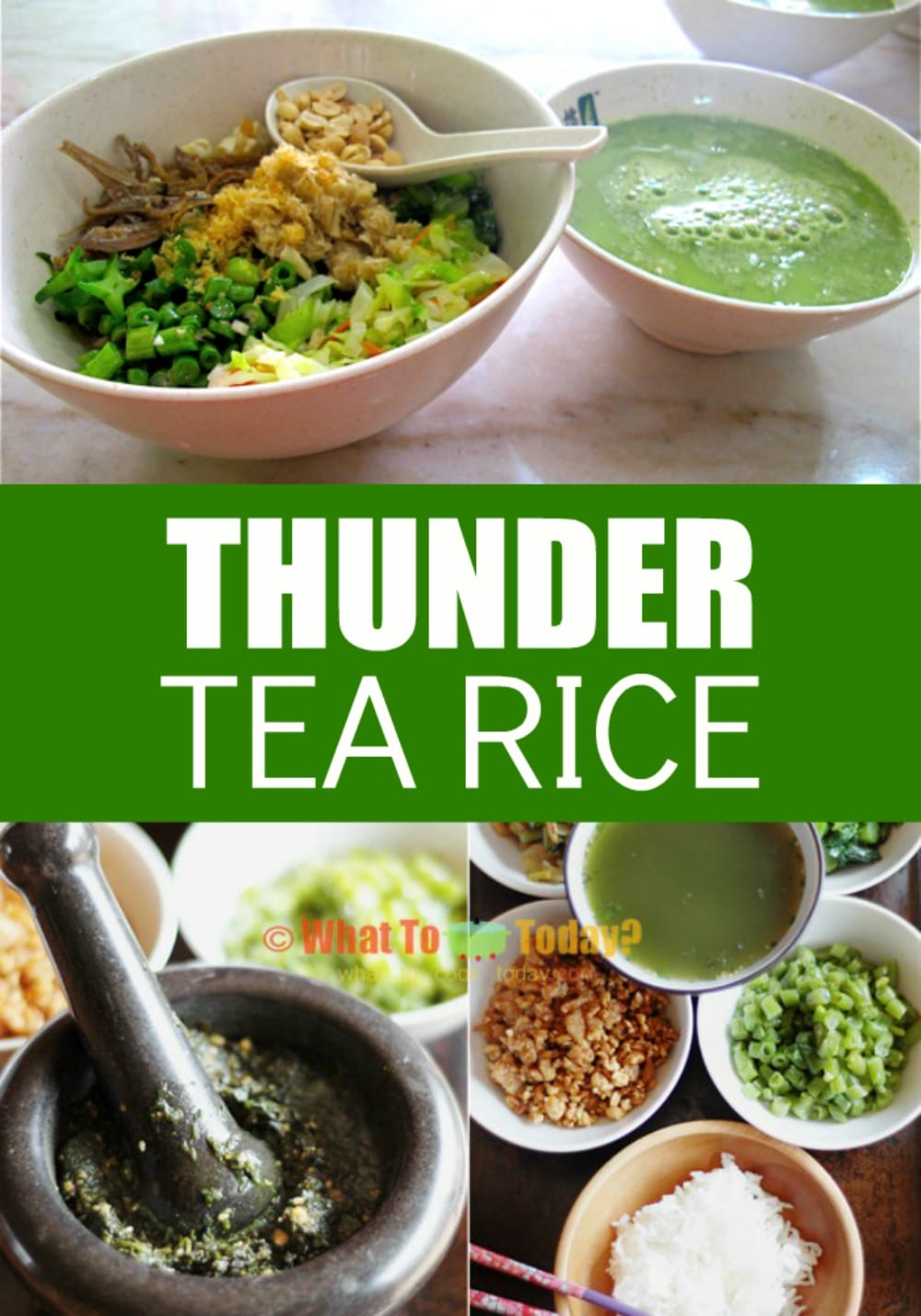 If you haven't tried thunder tea rice you are seriously missing out! Crazy flavors and overall an incredibly tasty dish!!