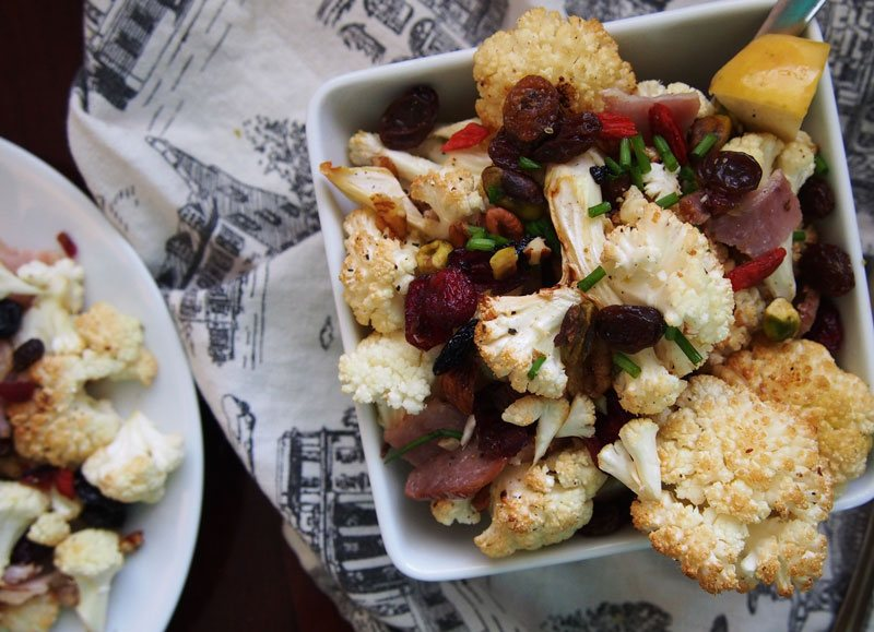 Cauliflower-with-bacon,-fruit-&-nuts