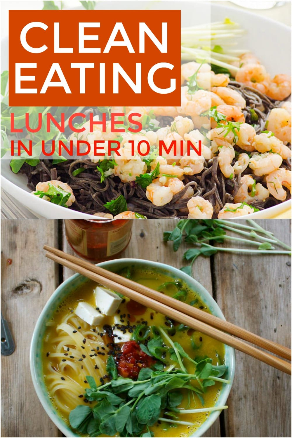If you feel like healthy meals often take too long to cook then check out these recipes. These clean eating recipes are perfect for a quick lunch!
