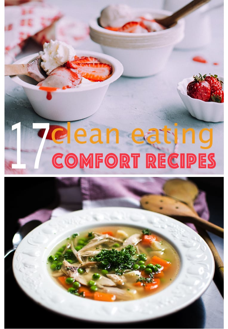 Great clean eating comfort food recipes! Comfort food just hits the spot sometimes but that doesn't mean you can't stick with your clean eating goals! Awesome recipes!!