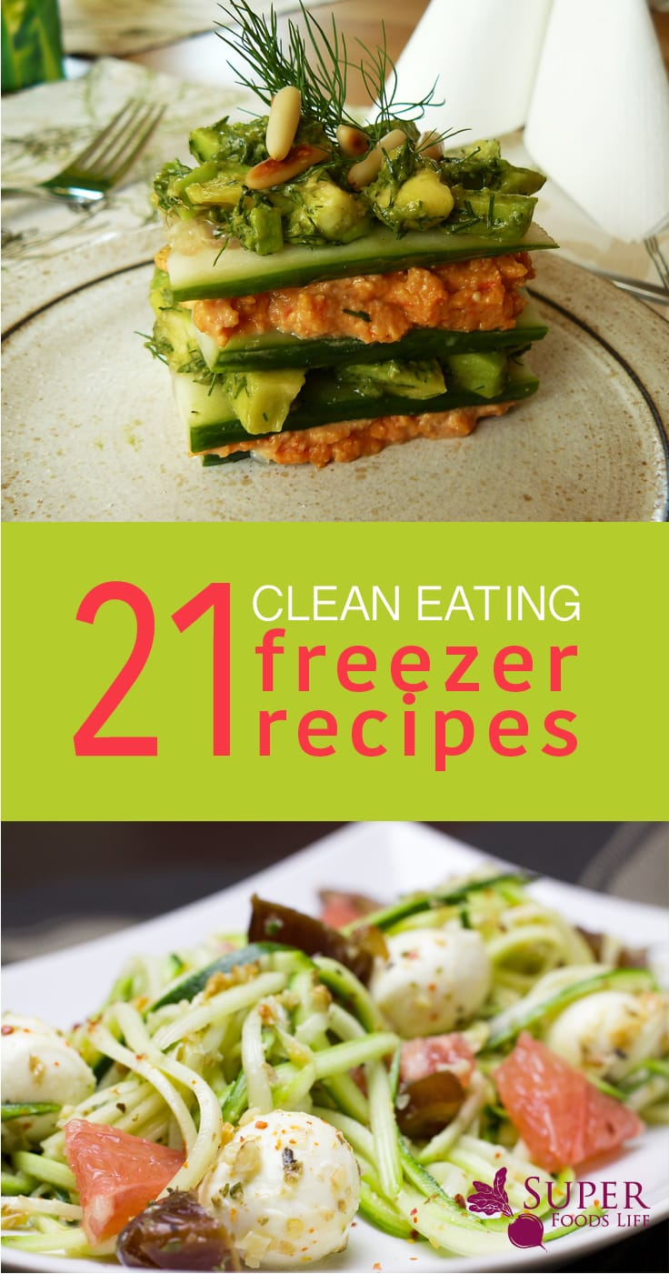 Clean eating freezer recipes are perfect for meal prep! Cook them, freeze them and then pull them out and re-heat!!