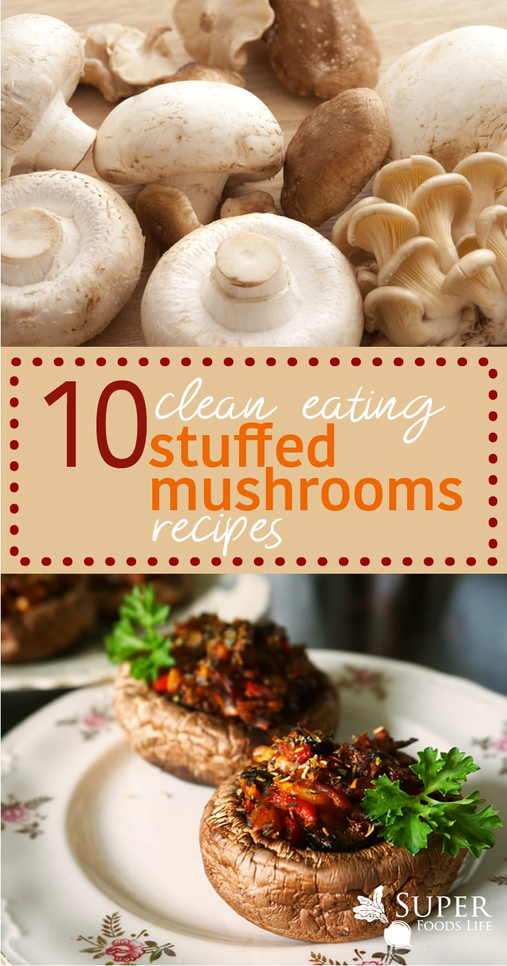 Stuff mushrooms are amazing. Clean eating stuffed mushrooms are even better! Great recipes!!